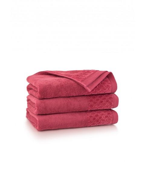 Ręcznik ANTYBAKTERYJNY Carlo z bawełny egipskiej karnelian- 50x100 cm