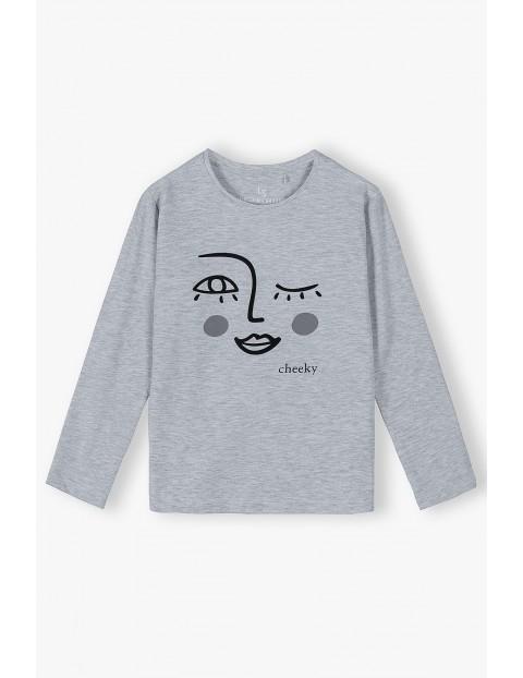 Dzianinowa bluzka z długim rękawem - ubrania dla dziewczynki