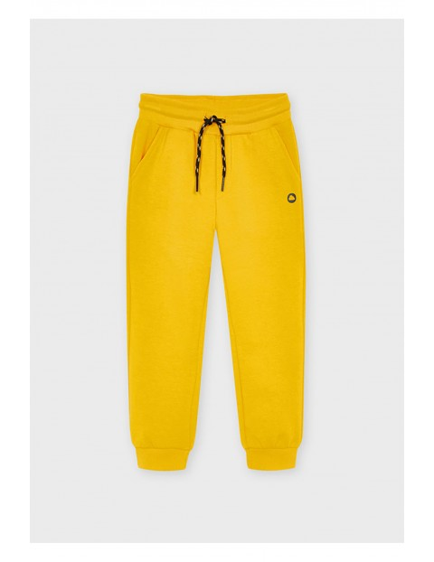 Długie chłopięce spodnie dresowe   - żółte