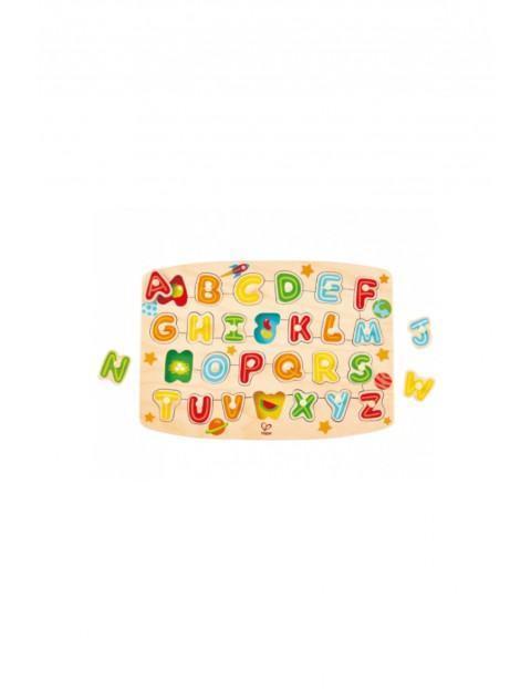 Alfabet- układanka z kołkami