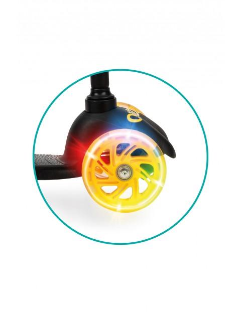 QKIDS LUMIS - Hulajnoga 3kołowa żółta z kołami LED wiek 3+