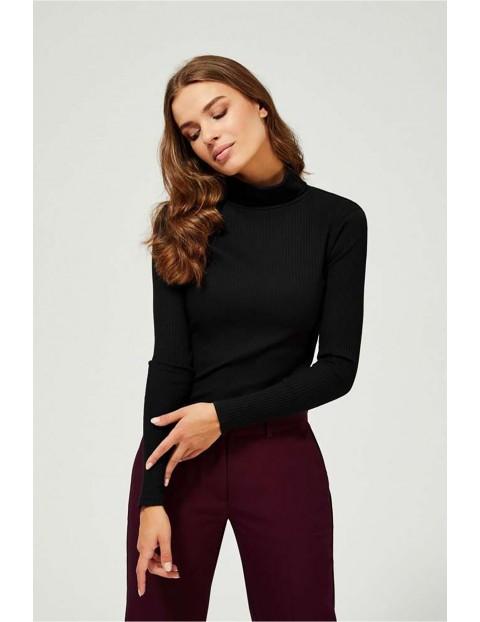 Bluzka damska czarna z golfem