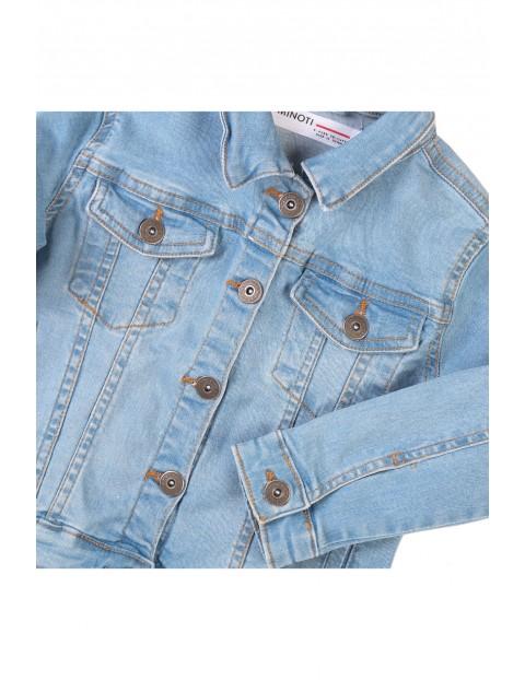 Kurtka dziewczęca jeansowa w kolorze niebieskim