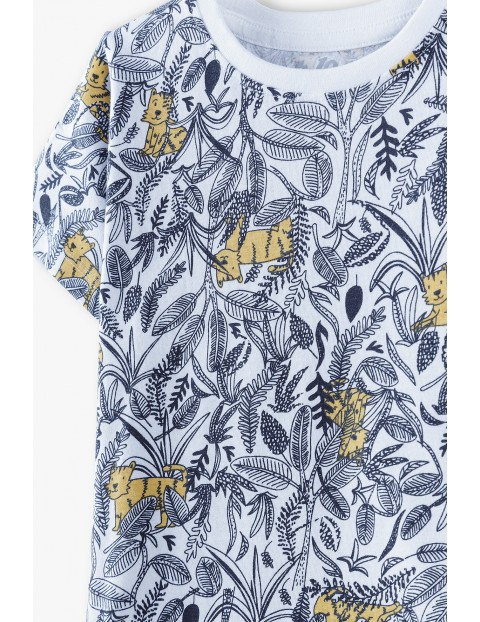 Piżama chłopięca z krótkim rękawem i szortami