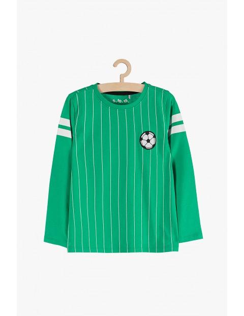 Bluzka chłopięca zielona z motywem piłki nożnej