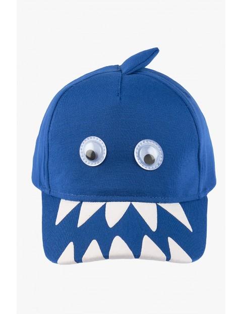 Czapka z daszkiem- niebieska- rekin