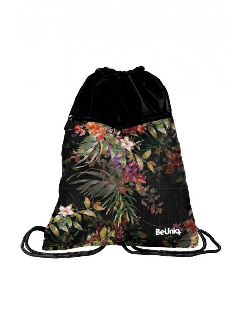 Worek na obuwie w kwiatowy wzór