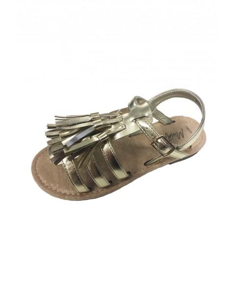 Sandały dziewczęce- złote