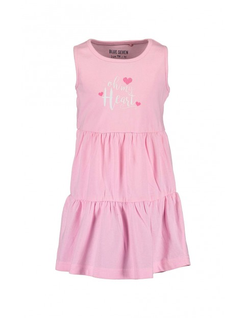 Sukienka dziewczęca różowa z serduszkami