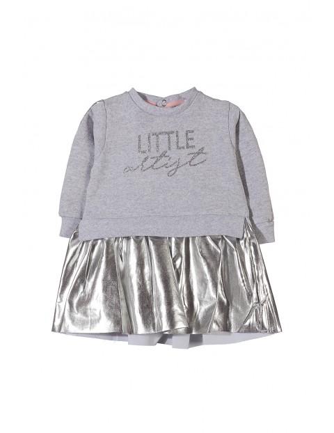 Sukienka niemowlęca dzianinowa 5K3501