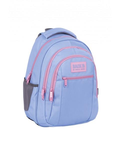 Plecak BackUp dziewczęcy niebieski