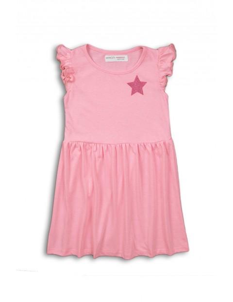 Sukienka dziewczęca na lato - różowa