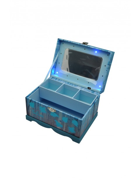 Pudełko na biżuterię z kodem i efektami świetlnymi, 18x13x12 cm Frozen