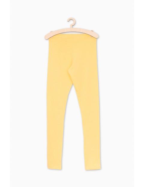 Żółte leginsy dla dziewczynki
