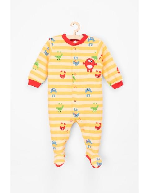 Pajac niemowlęcy bawełniany-zabawne stworki
