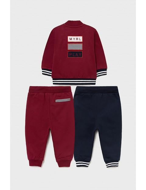 Mayoral zestaw dresowy dla chłopca - bluza z nadrukiem i 2 x spodnie dresowe