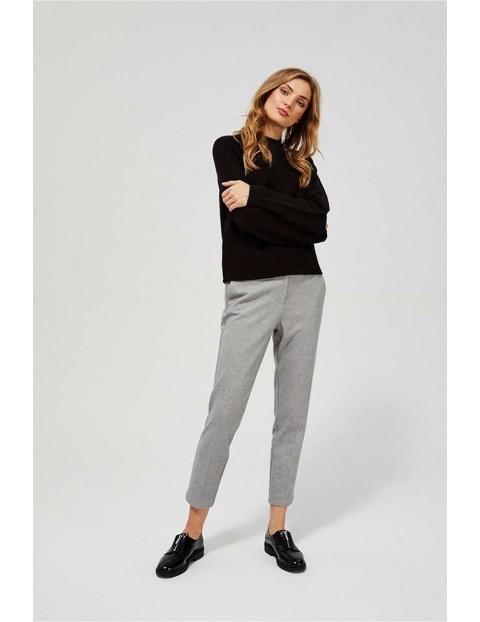 Uniwersalne spodnie damskie w kant - szare