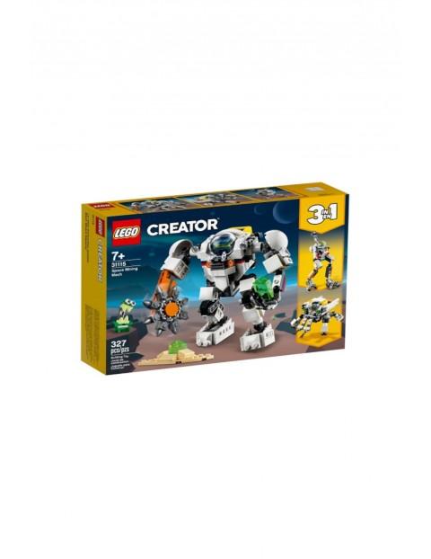 LEGO Creator -  Kosmiczny robot górniczy - 327 elementów wiek 7+