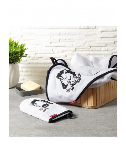 Myjka do kąpieli bambusowa dla dzieci i niemowląt z zebrą