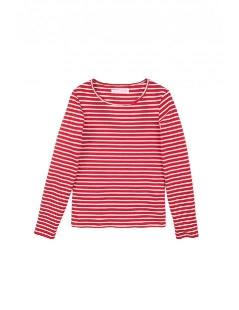 Bluzka niemowlęca czerwona w paski