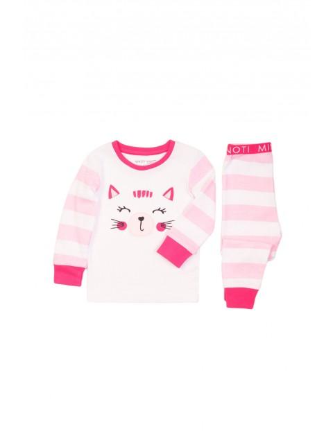 Pidżama niemowlęca różowa - Kotek