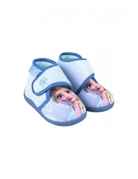 Kapcie dziewczęce Frozen - niebieskie