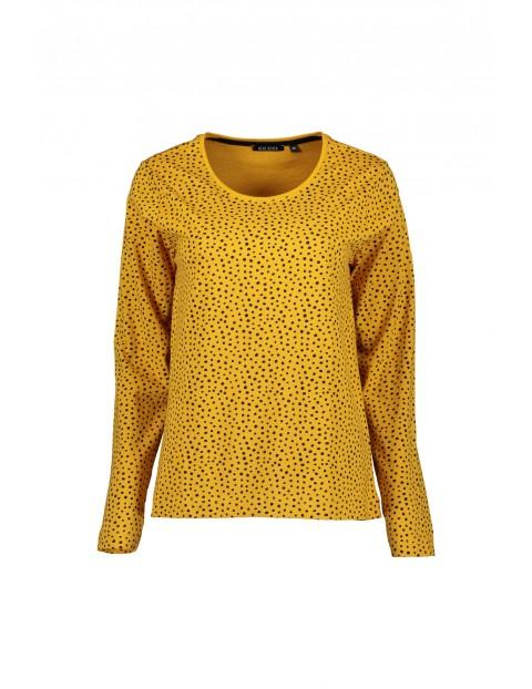 Bluzka damska- żółta w czarne kropki