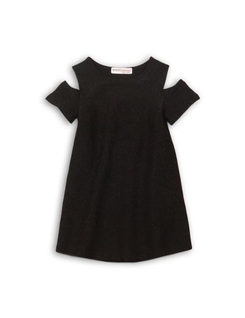Sukienka dziewczęca czarna 3K35AV