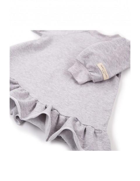 Bawełniana sukienka dresowa - szara