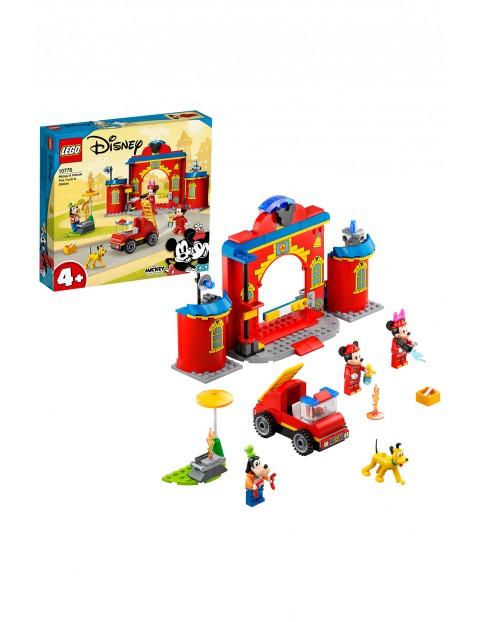 LEGO Mickey and Friends - Remiza i wóz strażacki Myszki Miki i przyjaciół - 144 elementów, wiek 4+