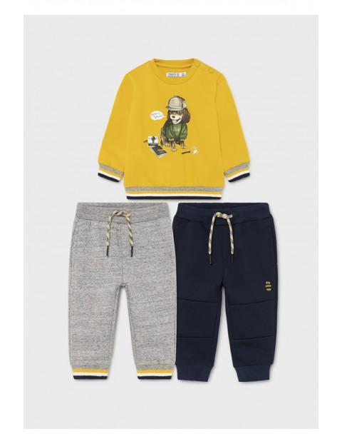 Komplet dresowy 3 częściowy - bluza z nadrukiem  i 2 x spodnie dresowe