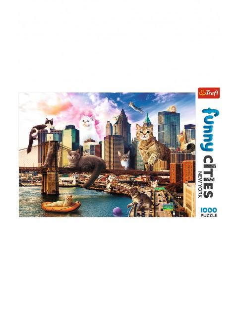 Puzzle  Funny Cities - Koty w Nowym Jorku - 1000 elementów