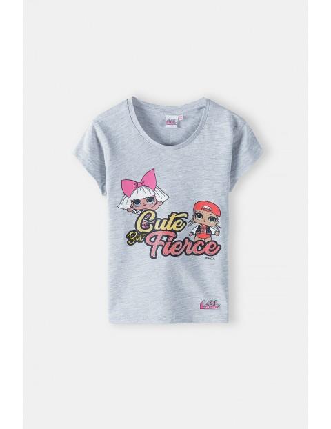 T-shirt dziewczęcy LOL Surprise- szary