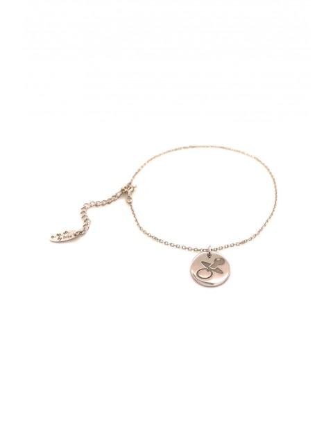 Narodziny - Bransoleta srebrna rodowana- Smoczek