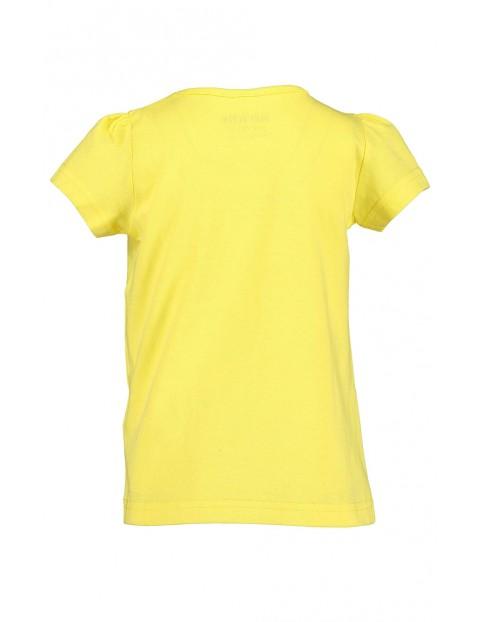 Koszulka dziewczęca żółta z konikami