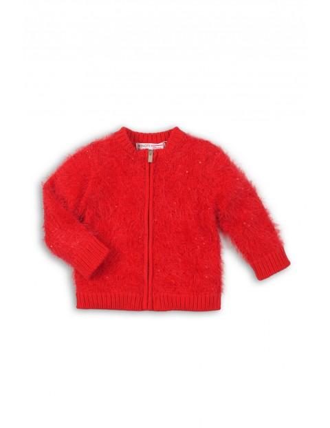 Sweterek dla niemowlaka- czerwony z cekinami