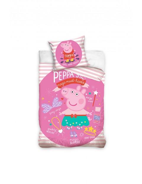 Komplet pościeli bawełnianej Peppa Pig 160x200+70x80 cm