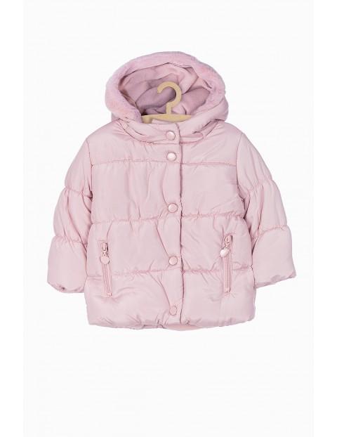 Różowa kurtka zimowa dla niemowlaka