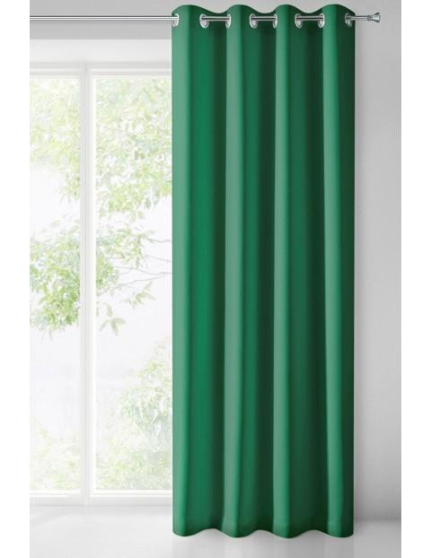 Zasłona zaciemniająca jednokolorowa - zielona - 135x250cm