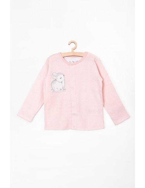 Kaftanik niemowlęcy różowy z królikiem