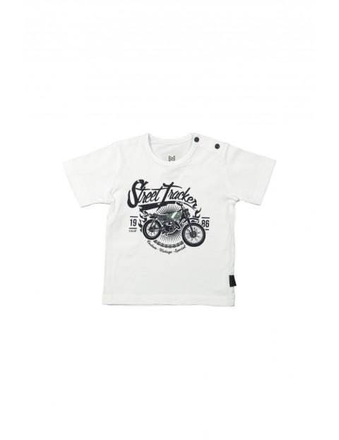 T-shirt niemowlęcy z motocyklem