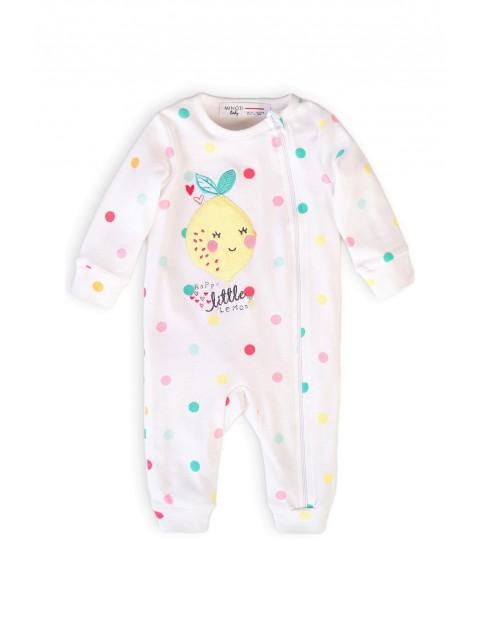 Bawełniany pajac niemowlęcy w kolorowe wzorki