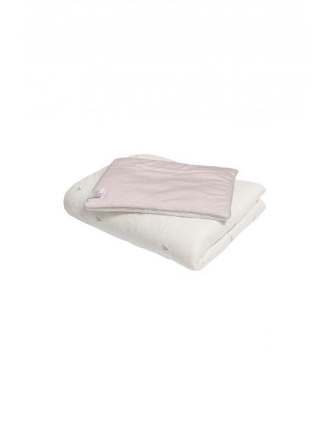 Pościel z wypełnieniem biała w różowe serduszka - 100% bawełny by Małgosia Socha 120x180