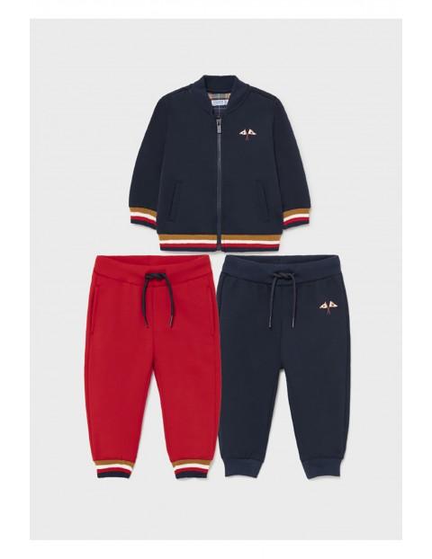 Zestaw dresowy dla chłopca - bluza z nadrukiem i 2 pary spodni dresowych