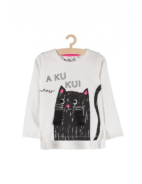 Bluzka z czarnym kotkiem