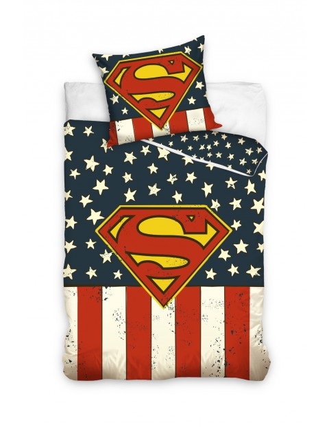Komplet pościeli bawełnianej 160x200 +70x80cm Superman