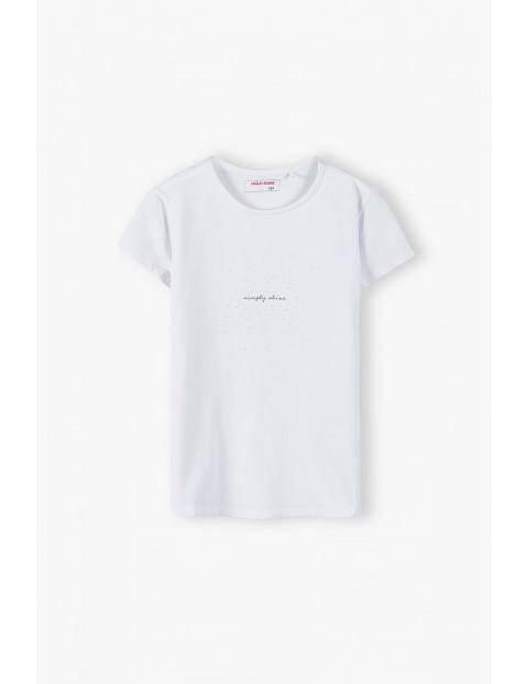 T- shirt dziewczęcy - biały