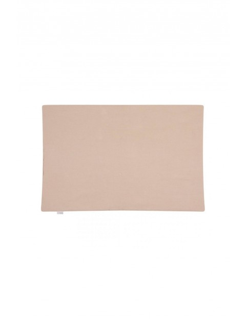 Kocyk muślinowy Picnic w kolorze beżowym - 100x75 cm