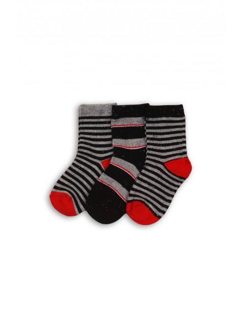 Szaro-czerwone skarpetki dla dziecka rozm 80/92