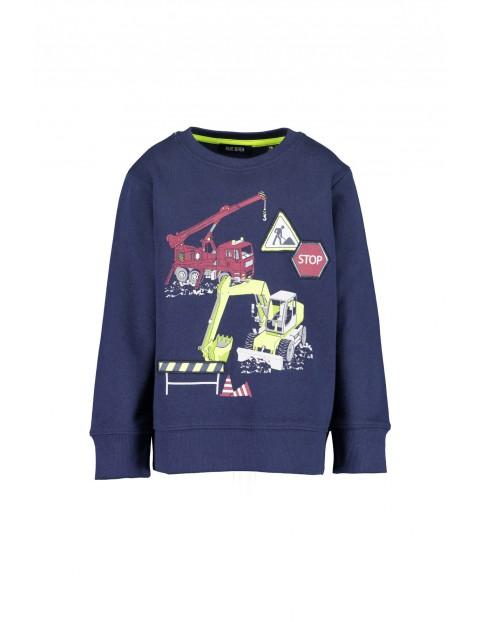 Granatowa bluza dresowa - koparki